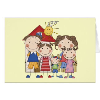 Dad, Mom, Big Sis, Middle Sis, Little Brother Card