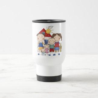 Dad, Mom, Boy, Girl, Baby Boy Family Travel Mug
