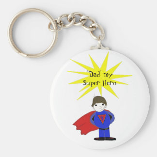 Dad My Super Hero Key Chain