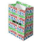 Dad Names Personalized Gift Bag