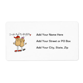 Dad - Nuts About My Daughter T-shirts and Gifts Shipping Label