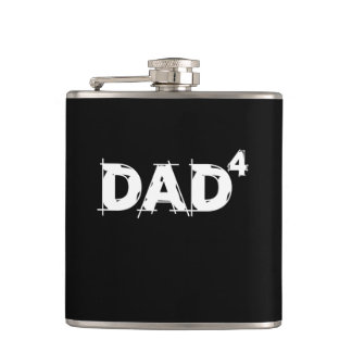 Dad of 4 hip flask