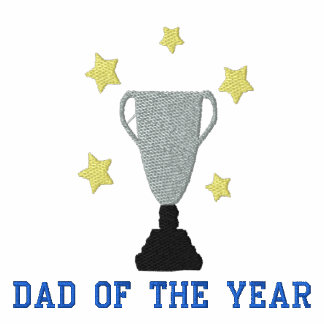 Dad of The Year Trophy Embroidered TShirt Template