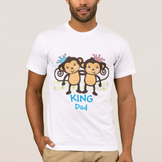 Dad of Twin Monkeys T-Shirt