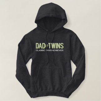 DAD OF TWINS EMBROIDERED HOODED SWEATSHIRTS