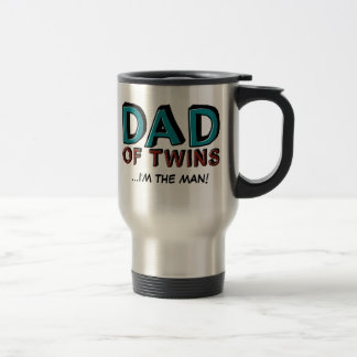 Dad of Twins...I'm the man! 15 Oz Stainless Steel Travel Mug
