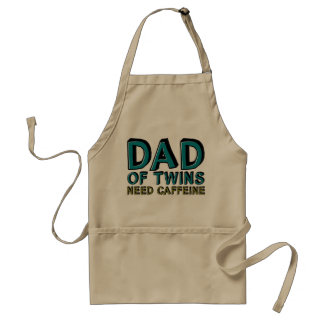 Dad of Twins NEED Caffeine Adult Apron