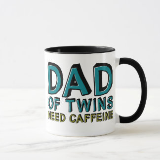 Dad of Twins NEED Caffeine Mug