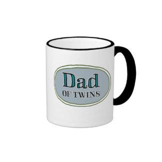 Dad of Twins Ringer Coffee Mug