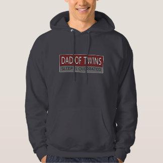 Dad of Twins SLEEP IS OVERRATED Sweatshirt
