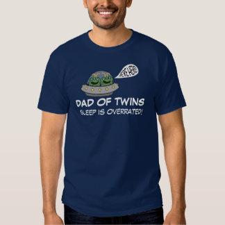 Dad of Twins SLEEP IS OVERRATED Tee Shirt