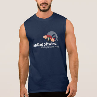 Dad of Twins Sleeveless Shirt