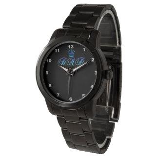 DAD Oversized Black Bracelet Watch