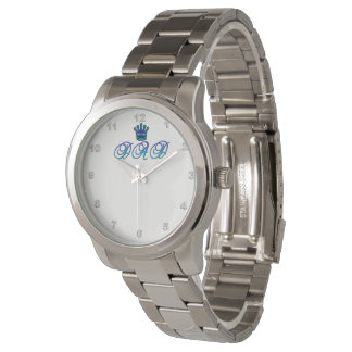 DAD Oversized Silver Bracelet Watch