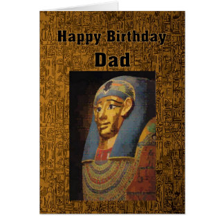 Dad Pharaoh Happy Birthday Card