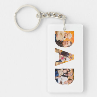 Dad Photo Collage Double-Sided Rectangular Acrylic Keychain
