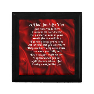 Dad Poem - Red Design Gift Box