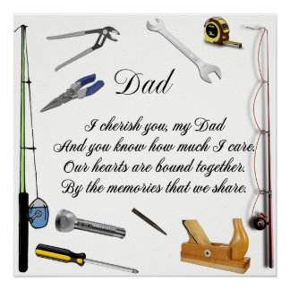 DAD QUOTE POSTER