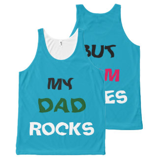 dad rocks mom rules All-Over-Print tank top