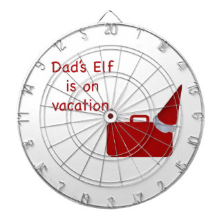 Dad s Elf is on vacation products Dartboard