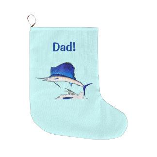 Dad: Sailfish Large Christmas Stocking