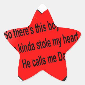 Dad saying.............. star sticker