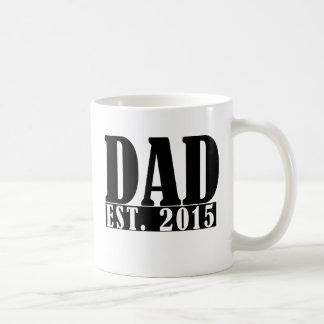 Dad since 2015 basic white mug