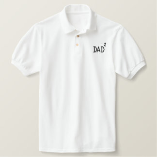 DAD Squared Embroidered Polo Shirts