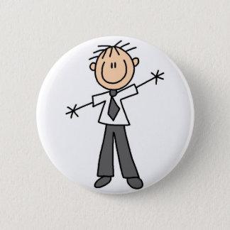 Dad Stick Figure Button