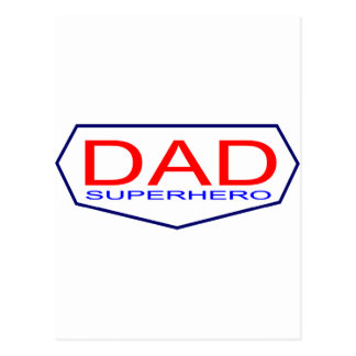 Dad Superhero Postcard