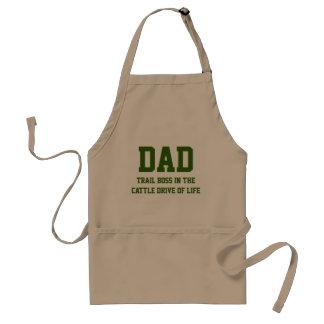 DAD The Trail Boss Funny BBQ Apron (Khaki)