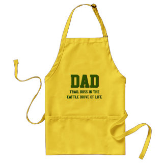 DAD The Trail Boss Funny BBQ Apron (Yellow)