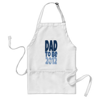 Dad to be 2012 - white footprints standard apron