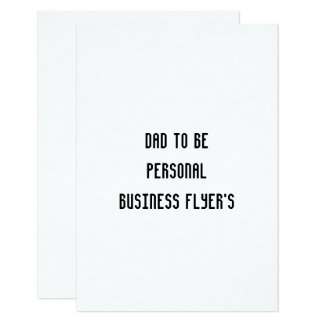 dad to be personal business flyer rsvp flat card