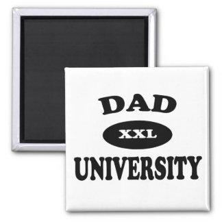 Dad University Square Magnet