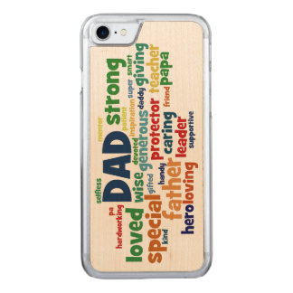 Dad Word Cloud Text Father's Day Typography Carved iPhone 7 Case