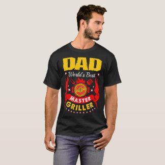 Dad Worlds Best Master Griller Barbecue Tshirt