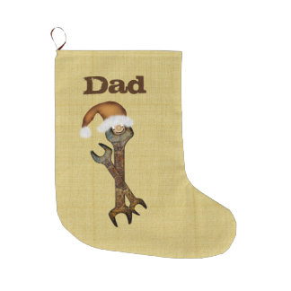 Dad Wrenches Christmas Stocking