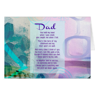Dad, You Stood Beside Me - Sympathy Card