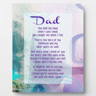 Dad, You Stood Beside Me - Sympathy Plaque