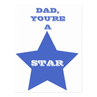 Dad, you're a star | Father's Day | Star Postcard