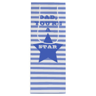 DAD, YOU'RE A STAR   Navy Blue Star Gift Bag