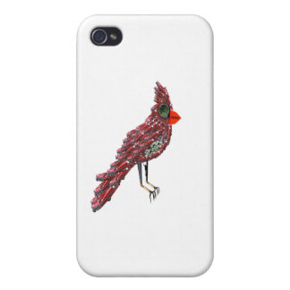 Dada Cardinal (Red Cadillac Cardinal Bird) Case For iPhone 4