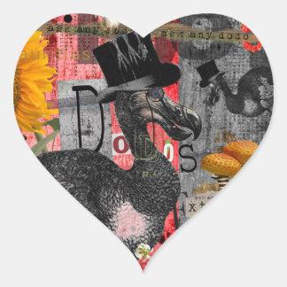 Dada Dodos Heart Sticker
