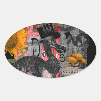 Dada Dodos Oval Sticker
