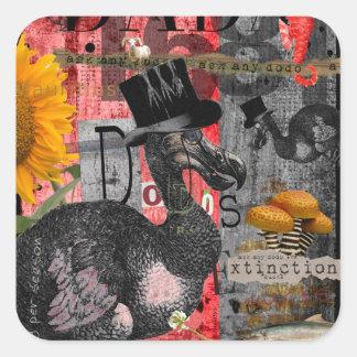 Dada Dodos Square Sticker