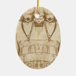 Dada is Dead Ceramic Oval Ornament