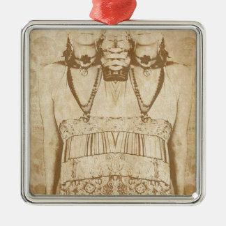 Dada is Dead Metal Ornament