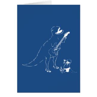 Dadasaurus Rox! Dad and Baby Dinosaur Rock Out Card