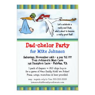 Dadchelor - nouvelles invitations mignonnes de carton d'invitation  12,7 cm x 17,78 cm